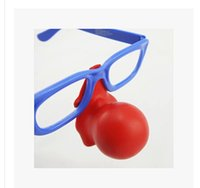 clown nose - 2015 New Party Glasses Clown Glasses Red Big Nose Glasses Children Adult Party Accessories Costume Cosplay Dancing Party Supplies