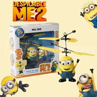 Wholesale Newest Flying Toys USB Infrared Induction Control RC Helicopter Despicable Me Boy Girl Minions Plan Flying Balls Kids Toys Gift