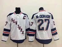 Cheap Cheap Rangers Hockey Jerseys 27 Ryan McDonagh White Jersey Lowest Price High Quality