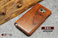 Wholesale Skull Galaxy Note Cases - Retro PC+Wood Skull Case for Samsung Galaxy Note 3 note 5 Novetly Vintage Case Cover for Galaxy S5 S6 edge