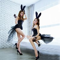 Wholesale ASLT Sexy Babydoll Teddy Lady Rabbit Bunny Halloween Cosplay Costume Fancy Dress
