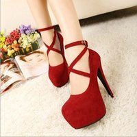 red pumps - women shoes new high heeled shoes woman pumps wedding shoes platform fashion women shoes red bottom high heels cm suede