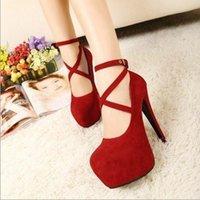 Wholesale women shoes new high heeled shoes woman pumps wedding shoes platform fashion women shoes red bottom high heels cm suede