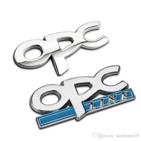 astra lines - OPC Line Metal Styling Car Emblem Badge D Sticker Auto Exterior Decor Logo Decal for Opel Corsa Meriva Zafira Astra Vectra