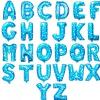 Wholesale aluminum balloons Birthday letters A Z blue pink balloon decoration gifts hot on sale