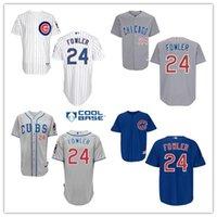 dexter - Men s Top quality Dexter Fowler jersey Chicago Cubs Dexter Fowler Baseball Jersey white blue gray Jerseys fashions sports