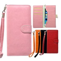 Wholesale Universal Wallet Leather Phone Case Cover HandBag Bag with Card Slot Holder Money Pouch Pocket for Mobile Phone iPhone Plus Samsung Note5