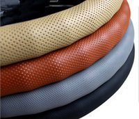 automotive wheel covers - The punching section bar breathable car set of Danny leather steering wheel covers automotive supplies