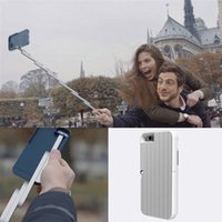 Cheap Newest Luxury STIKBOX With Bluetooth Remote Selfie Phone Cases Selfie Stick Protective Back Cover Holder Stand For iPhone 6 6S Plus Skin