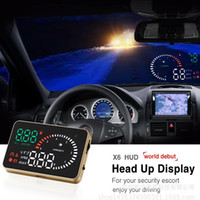 alarms projects - 3 X6 Car HUD Head Up Display Projector OBDII Interface Universal OBD2 Hud Overspeeding Alarm Fuel Speedometers Auto Project Car Styling