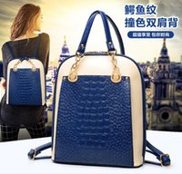 mcm bag - The new multi function lady crocodile leather handbag trend students shoulders knapsack mcm bag backpacks mcm backpacks backpacks for men
