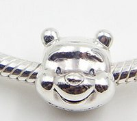 Wholesale High quality Sterling Silver Winnie The Pooh Charm Bead Fits European Pandora Jewelry Bracelets Necklaces Pendants