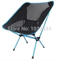 Cheap Wholesale-1 PC lot Ultra light outdoor barbecue camping portable folding chair fishing chair beach stool four color free shipping