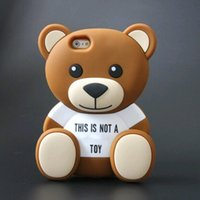 bear silicone case - Cute D Cartoon Teddy Bear Soft Silicone Phone Case Back Cover for iPhone S S S Plus Funda Fundas