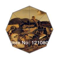 auto fabric paint - New DIY Umbrella Salvador Dali painting Background Auto Foldable Umbrella Good Gift Idea