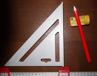 angle protractor tool - Speed Square quot Aluminum Angle Protractor Try Square Mitre Framing Square Carpenter s Measuring Layout Tool Roofing Triangle