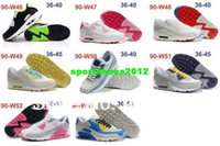 Mesh fast shipping shoes - Top Brand arrive Max90 Mens Running Shoes Women s Air Sneakers Running Shoes size red Net cloth Fast Free drop shipping with box