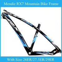 MENDIZ RX7 Mountain Bike 26er Frame / 27.5ER / 29ER Bb68 pedalier BB30 montaña Ciclismo Piezas de bicicleta brillante cuadro de la bicicleta de color azul mate