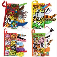 activity book - 10 pages Animal Tails cloth book Activity Book Baby Toy Cloth Development Books Learning Education Unfolding books