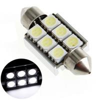 Wholesale Hot Sale mm SMD LED Canbus White Car Dome Light Lamp Led Car Interior Light Festoon Light Lamp Bulb free ship