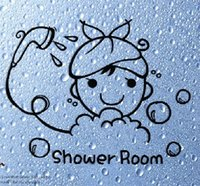 bath room decorations - The third generation wall stickers bath bathroom waterproof tile decoration stickers heart