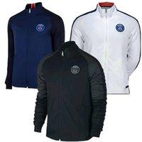 Fall-2016 Top Tailandia Blue chaquetas PSGps chaqueta de traje de entrenamiento Real capa azul chándal de fútbol camiseta de fútbol de la chaqueta blanca Reaper