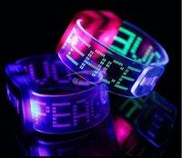 Wholesale 50pcs Soft rubber led flash bracelet Luminous wrist belt