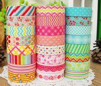 washi tape - New box Flower dots cartoon washi masking tape adhesive decoration Japan paper tapes