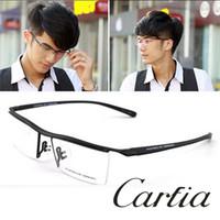 achat en gros de boîte de gros lunettes-p8189 lunettes nouvelles arrivent hommes métalliques femmes lunettes cadre de titane de optique boîte de myopie lunettes de mode en gros
