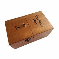 beautiful jokes - 2015 New Hot Beautiful wood packaging Useless Box Gags Practical Jokes Funny toys Leave Alone Super boring Box