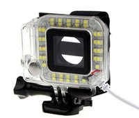 Wholesale New arrives USB Lens Ring LED Flash Light Shooting Night For Sport Camera GoPro Hero