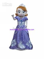 Cheap 2014 On sale New Free Shipping Deluxe Sofia the First Mascot Costume, Sofia Mascot Costume halloween Christmas cartoon promotio free sale