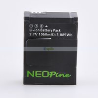 Wholesale 1050mAh Camera Replacement Battery Li ion Battery Rechargeable for GoPro HD Hero GoPro AHDBT AHDBT