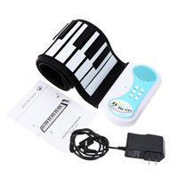 Wholesale Good Quality keys Roll up Piano Flexible Soft Keyboard Piano Educational Instrument for Kids US UK EU Plug for Option order lt no tra