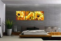 Wholesale 100 hand painted oil painting p combination of flower decoration wall art oil painting