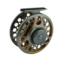 Wholesale Double colored Aluminum Alloy Machine Cut Fly Fishing Reels Large Arbor Spool Width mm Fly Reel