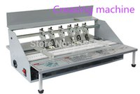 Wholesale 1pcs Electric paper creasing machine book cover creasing cutting and creasing machine by Dhl