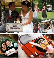 Wholesale Custom made Marriage Wedding Car Decoration Festive License Plate Number Custom Wedding Car Marriage Car DIY Wedding Decorations