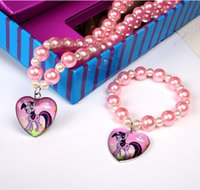 Wholesale New my little pony Jewelry necklace set a gift to the girl child hql
