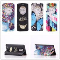 bear blue house - 1PC new Concise Smile Pattern Blue Butterfly Color Plaid Balloon Fly House Circle Leather Stand Flip Case Cover For LG G3 Blue