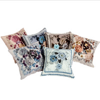 Wholesale Floral Peony Patterns Decorative Throw Pillow Case Cover Chinese Traditional Classical Square NEW