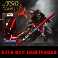 Wholesale Bubble Column Protection Package New Star Wars Kylo Ren Light saber Gift Box Package Light And Sound Flexible Long Length Cosplay Kids Toys