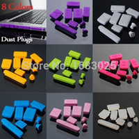 Wholesale Brand New colors Silicone Anti Dust plug ports cover set for Laptop for Macbook Pro New order lt no track