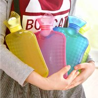 hand and foot - Transparent PVC Hot Water Bag Candy Color Water Filling Hot Water Bottle Large Capacity Feet and Hands Warmer Hot Water Bags