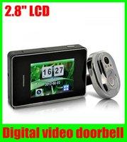 Wholesale 2 quot LCD IR Camera Digital video door Smart Visual doorbell peephole viewer