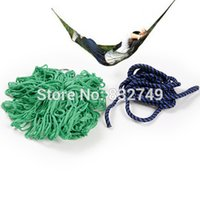 Wholesale Green and Blue Portable Nylon Hang Mesh Net Outdoor Travel Camping Hammock order lt no track