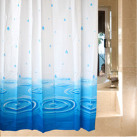 Wholesale New waterproof mouldproof EVA shower curtain bathroom shower curtain home shower curtain blue water style shower curtain