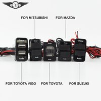 Wholesale Dual USB car chargers Honda Toyota Nissan Mitsubishi Suzuki Mazda Toyota vigo Special Car of A with Audio USB Car Charger