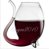 Wholesale New Hot Sale Stylish Red Wine Glass Vodka Shot Cup Whiskey Glassware Drinking Tube Mug Sucking For Barware