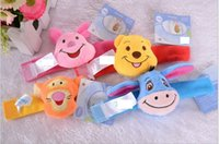 Wholesale Hot Sell Winnie Pooh Infant Boys Girls Watchband Rattles Piglet Tigger Eeyore Kids Baby Wrist Band Handbell Plush Toys Bracelets H2461